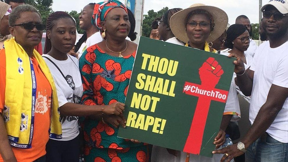 COZA Church Protest Was Hot: Watch Full Video At Guzape Hills, Abuja