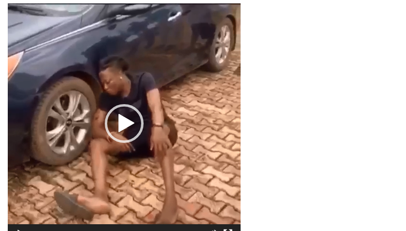 Video: Another So-called 'Yahoo Boy' Is Dying: Barking & Vomiting Blood
