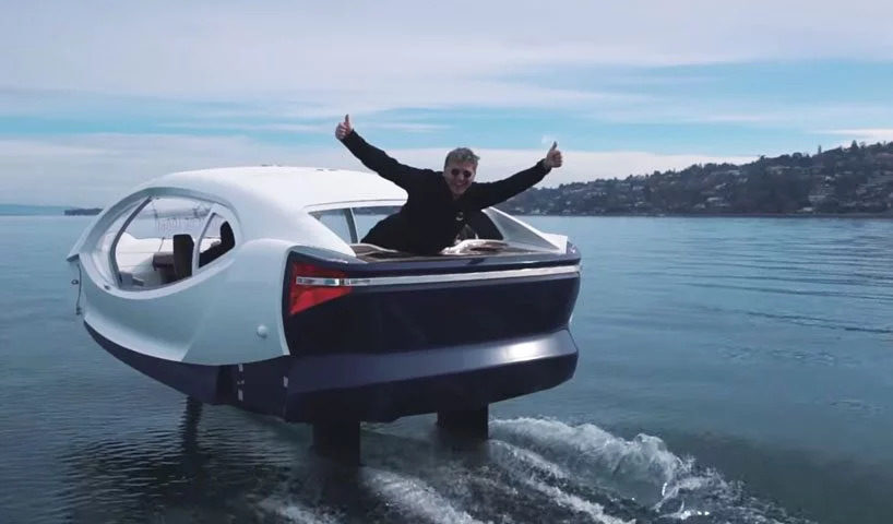 flying taxi by seabubbles in paris
