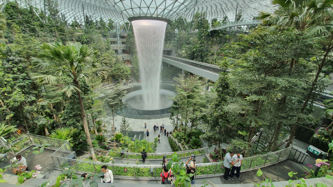 Photos Of Jewel Changi Airport: Best Airport In The World And It's $1.3 Billion Glass Dome Mall Having A Gorgeous Forest Waterfall
