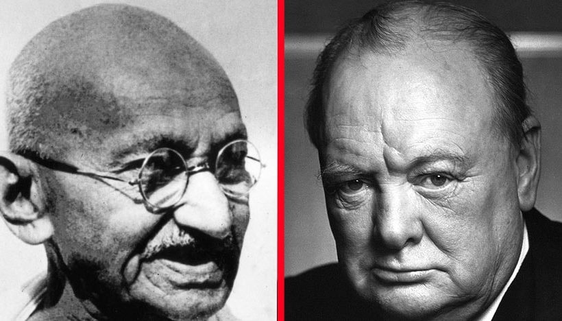 CHURCHILL AND GANDHI'S EPIC RIVALRY