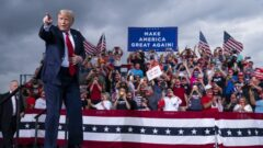 Trump raises $210 million, robust but well short of Biden