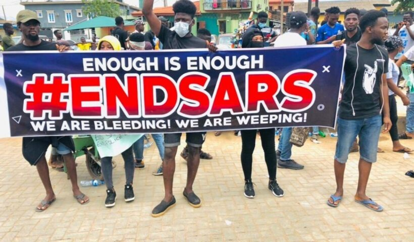 Nigerians in Ghana Protest in Support of End SARS Movement
