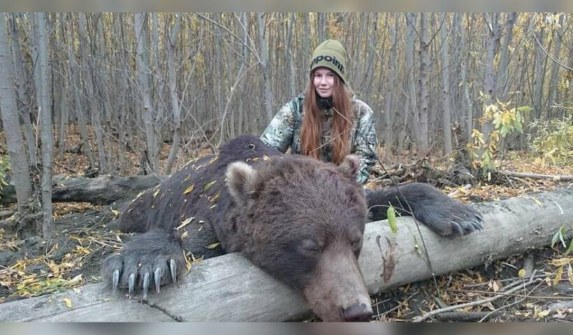 Instagram Trophy Huntress Who Poses With Dead Bears Blasts Her Critics As 'Uneducated'