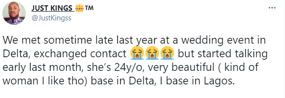 """Heartbroken Nigerian Man residing in Lagos curses Delta-based girlfriend for being unfaithful in their relationship- """"Esther it shall not be well with you""""."""