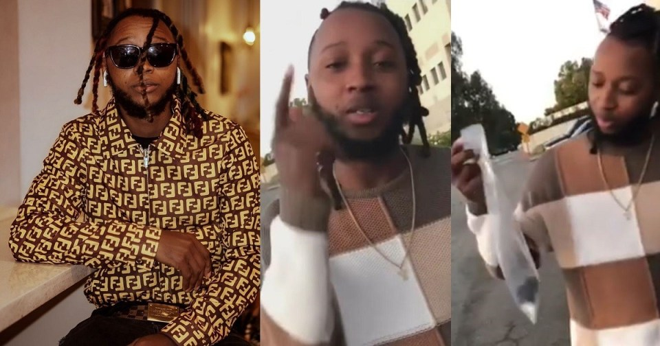 ''Your sons and daughters will not know success''- Yung6ix rains curses on the jeweler who arrested and got him jailed for a few hours in the US.