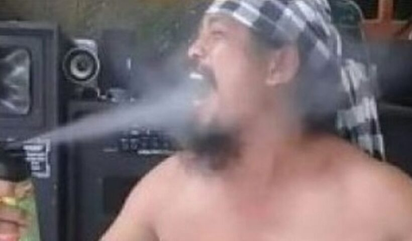 Viral Guru who sprayed insecticide into his mouth while dancing dies.