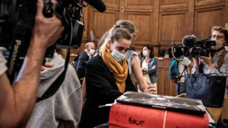 Frenchwoman who killed abusive husband reportedly faints in disbelief during court after hearing she could walk free.