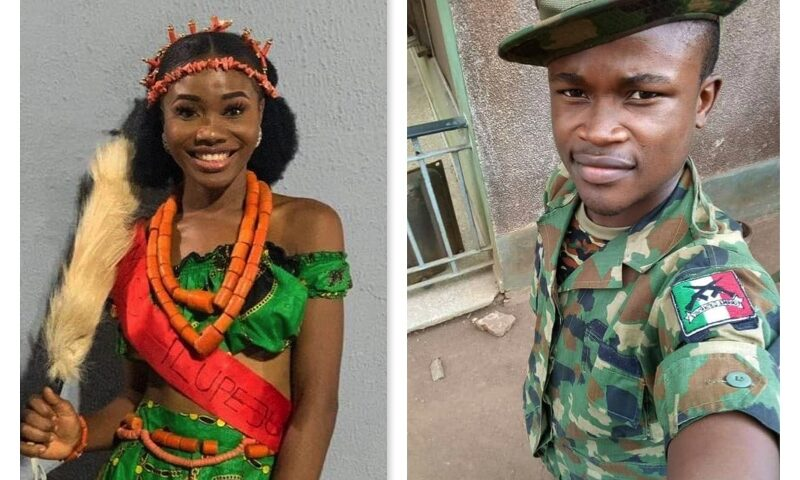 Nigerian Soldier allegedly rapes and murders his girlfriend over alleged cheating.